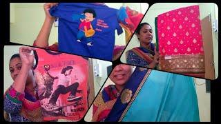 MINI SHOPPING HAUL IN TELUGUSAREESBABY DRESSES FOR TEJU BIRTHDAY