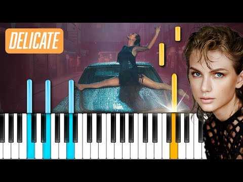 "Taylor Swift - ""Delicate"" Piano Tutorial - Chords - How To Play - Cover"