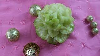Карвинг из овощей и фруктов цветы украшение праздничного стола