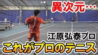 【プロと試合】異次元!これが江原弘泰プロのテニス