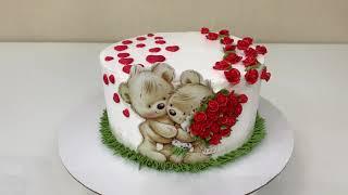Торт на День ВЛЮБЛЁННЫХ С Днём СВЯТОГО ВАЛЕНТИНА Красивый торт