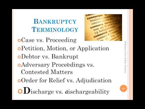 Bankruptcy Nuts and Bolts - For Non-Lawyers and Lawyers Who Don't Practice in Bankruptcy Court