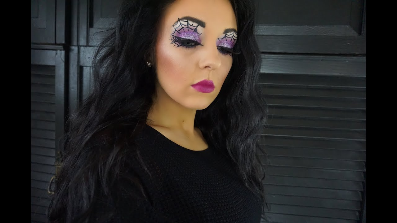 Spider Web Halloween Party MakeUp Tutorial - YouTube