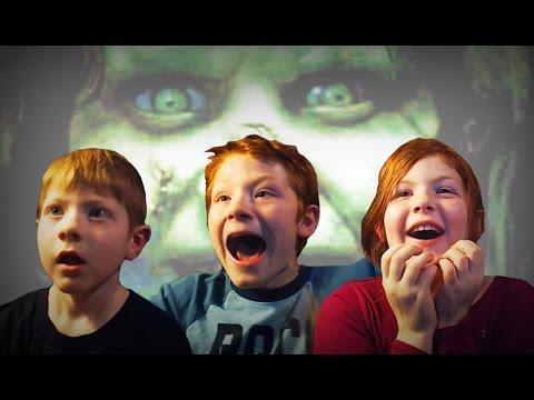 the exorcist scary maze jump scare kids prank youtube