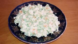 Tezbazar salat. Cox lezzetli salat.