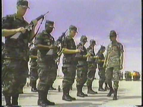 D company 35th Eng Bn Army Basic training video from 1993