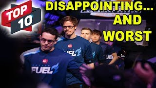 Top 10 Worst And Disappointing Players Of Season 1 Overwatch League!