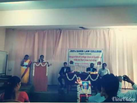 Teachers day  J.S.S. Sakri law college Hubli