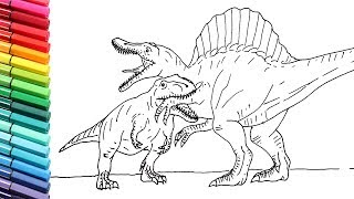 download how to draw dinosaurs battle t rex vs spinosaur dinosaurs color pages for children mp3 download how to draw dinosaurs battle t rex vs spinosaur dinosaurs color pages for children mp3