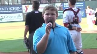 National Anthem at Greenville Drive