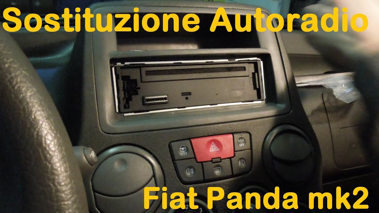 Codice Sblocco Radio Fiat Panda.Sostituzione Autoradio Fiat Panda 2 Serie 169