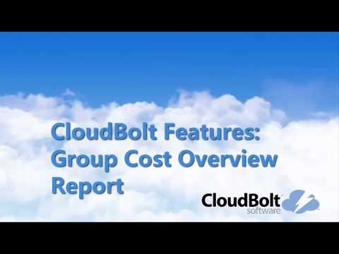 Group Cost Over Report in CloudBolt