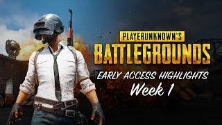 PLAYERUNKNOWN'S BATTLEGROUNDS - Early Access Highlights Week 1