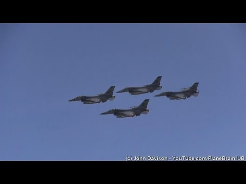 2015 JB Andrews Airshow - SOCOM Parachute Jump, F-16