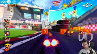 PURPOSZOWI WYWALIŁO PRĄD!!! xD | Crash Team Racing Nitro-Fueled #02