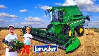 Брудер - машинки 🔴 Прямой Эфир все серии подряд Распаковка ТатаШоу Bruder Toys