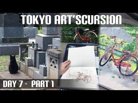Yanaka Cemetery & Live Art at Ueno Park (Tokyo Art'scursion Day 7, Part 1)