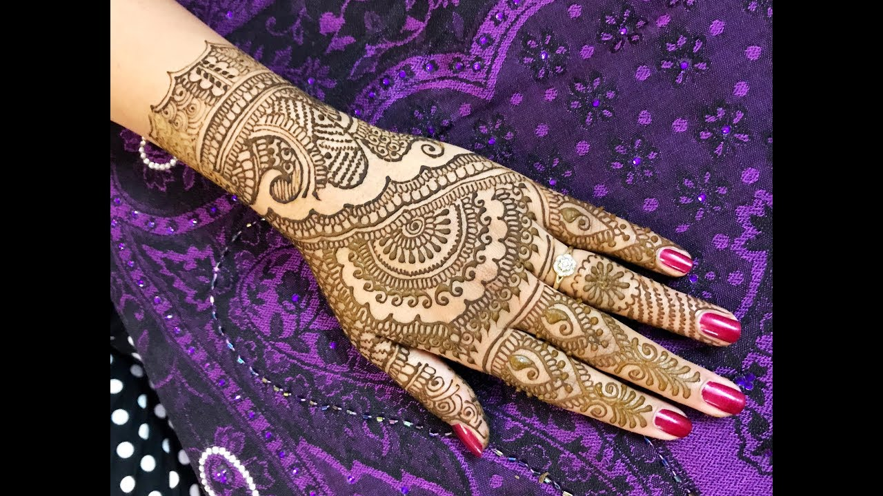 2b2f7cbc2 STEP BY STEP FULL HAND MEHNDI DESIGN | TRADITIONAL RAJASTHANI STYLE HENNA  MEHENDI FOR UPPER HANDS