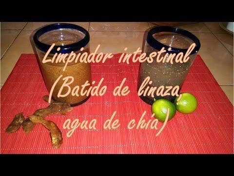 Limpiador intestinal (Batido de linaza, agua de chía)