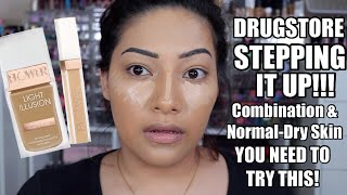 NEW HOLY GRAIL DRUGSTORE FOUNDATION! FLOWER BEAUTY LIGHT ILLUSION REVIEW