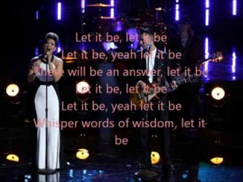 Tessanne Chin and Adam Levine-Let It Be-The Voice 5 Top 3