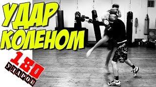Удар коленом в контратаке! Тайский бокс, кикбоксинг!