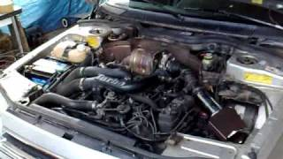 ca rupte !! essai moteur de ma renault 25 v6 turbo legerement boostèe !!