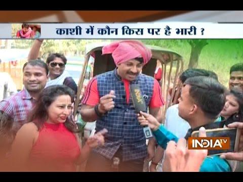 UP Polls 2017: BJP MP Manoj Tiwari Campaigns in Varanasi