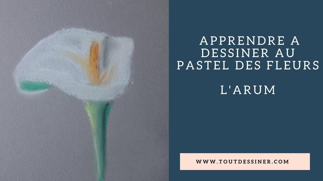 Coloriage Fleur Arum.Comment Dessiner Facilement Un Arum Au Pastel Tutoriel Youtube