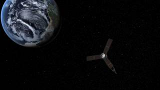 Juno spacecraft Earth flyby animation