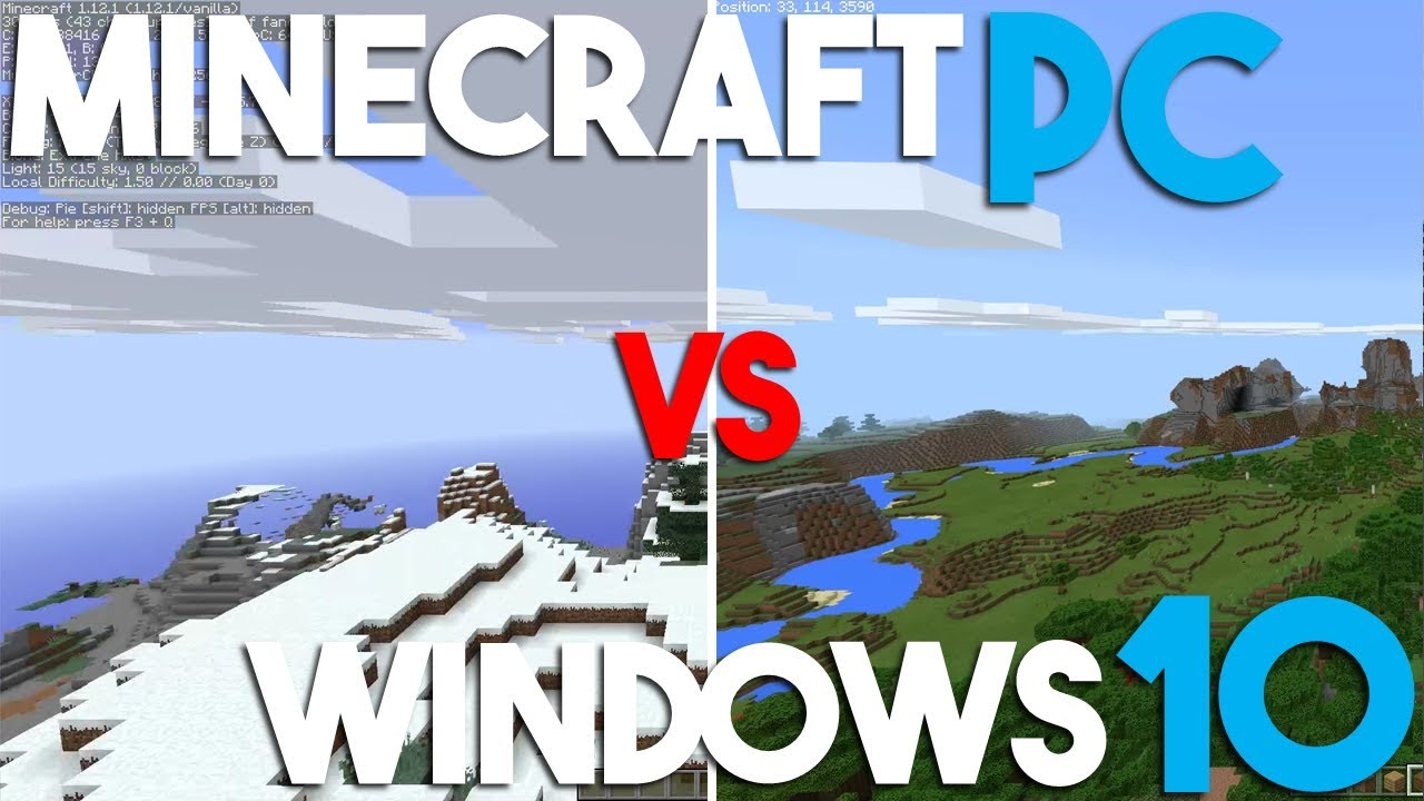 difference between minecraft windows 10 edition and java