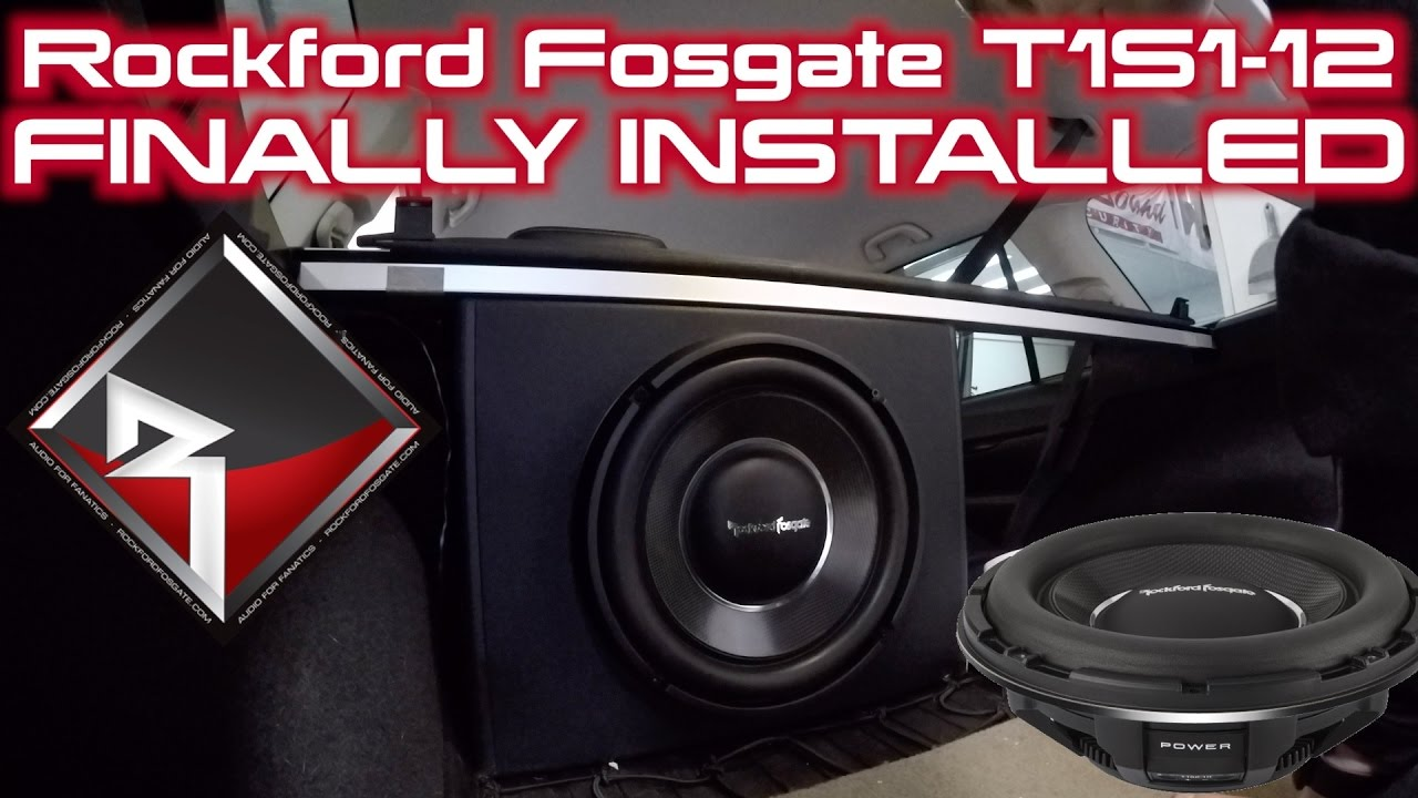Project Legacy Rockford Fosgate T1s1 12 Finally Installed In Semi Inch Subwoofer Custom Box