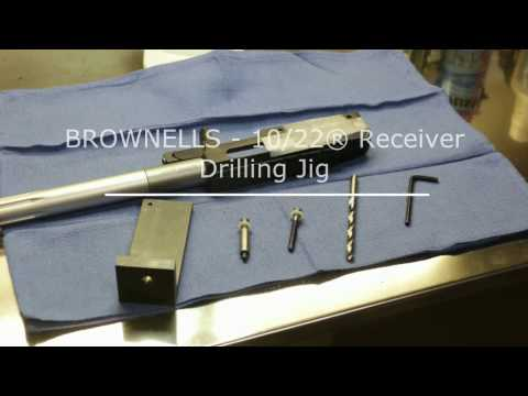 BROWNELLS Ruger 10/22 Receiver Drilling Jig - How To