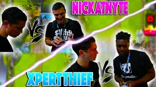 battling nickatnyte and xpertthief live clash royale friendly battles new series