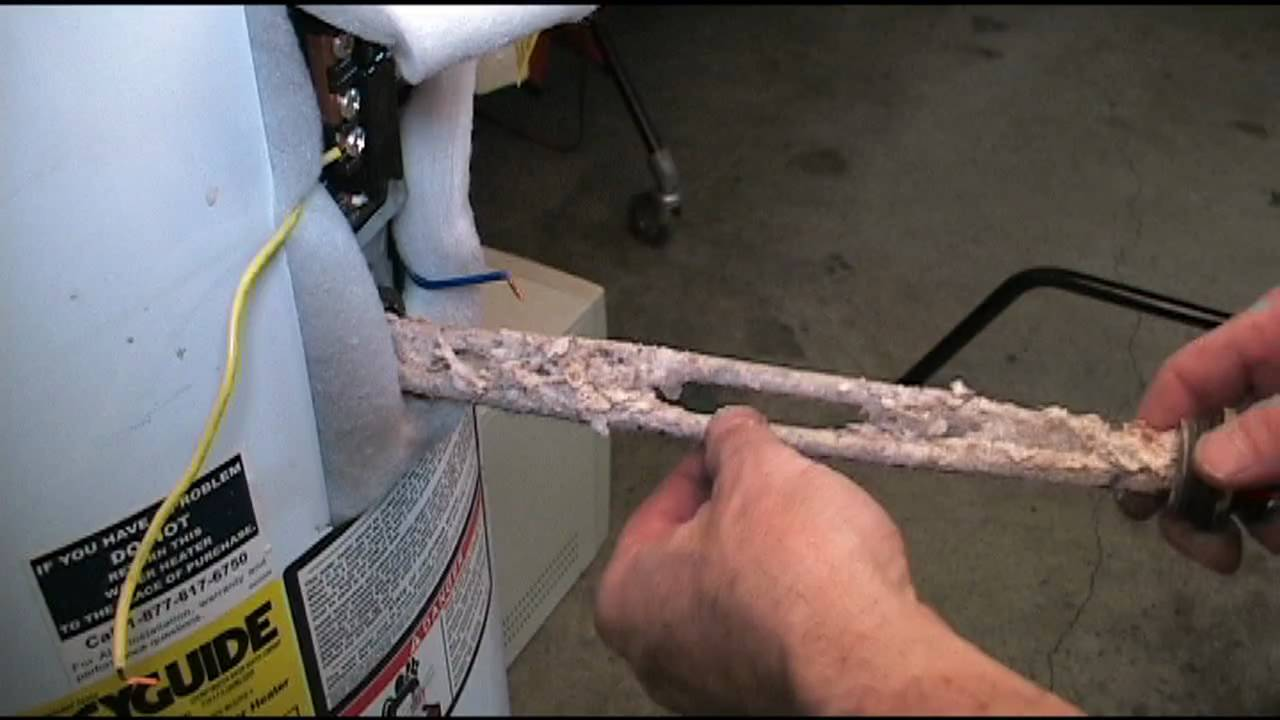 Water Heater Man Shows Calcium Build Up - YouTube