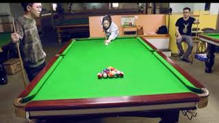 Real Or Fake? Chinese Woman Pulls Off Incredible Trick Shot!