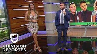 Ninel Conde presentó la canción de 'Sábados Futboleros' e hipnotizó con su belleza al 'Perro' Bermúd