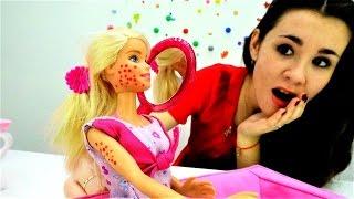 Барби и Игры для девочек. Как убрать сыпь у Barbie?