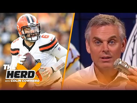 Colin Cowherd ranks the top 5 arm talents in the NFL, says Browns should make playoffs | THE HERD