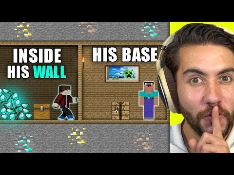 How Long Can I Hide In Someone's Wall Before They Notice? | Minecraft Home Invasion E4