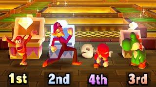 Mario Party: Star Rush MiniGames - Diddy Kong vs Waluigi vs Mario vs Yoshi (Master Cpu)