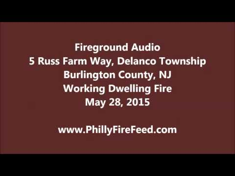 5-28-15, 5 Russ Farm Way, Delanco, Burlington County, NJ, House Fire