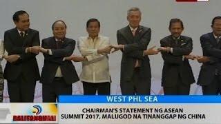 BT: Chairman's statement ng ASEAN Summit 2017, malugod na tinanggap ng China