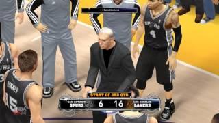 NBA 2K14 PC Gameplay Spurs Vs Lakers