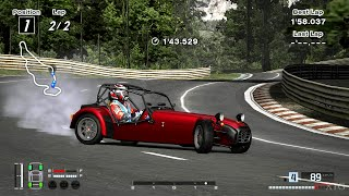 Gran Turismo 4 - Caterham Seven Fire Blade '02 (HYBRiD) PS2 Gameplay HD