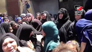 انهيار وبكاء بجنازة الشهيد «إسلام شعبان» ببني سويف
