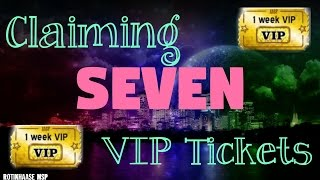 Claiming SEVEN VIP Tickets! ♥