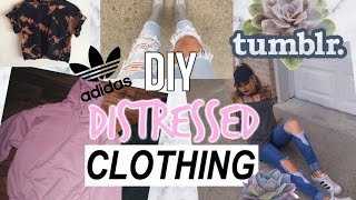 DIY TUMBLR INSPIRED Distressed Clothing for Fall/Winter + LOOKBOOK ♡