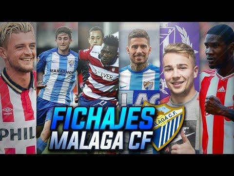 MERCADO de FICHAJES INVERNAL del MÁLAGA CF | Nuevos Fichajes y Bajas