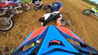 Crazy Motocross Crash at Parsons Mx Compound
